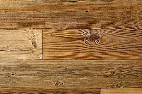 WoodyWalls Reclaimed Wood Planks   Wall Panels are Made from 100% Reclaimed Wood   Each Wood Plank is Unique   Set of 12 Barnwood Planks for Rustic Wall Decor   DIY Wood Panels (19.5 sq.ft.) Brown