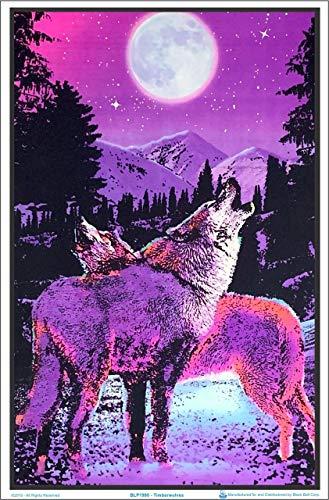 Poster Revolution (23x35) Timberwolves Flocked Blacklight Poster