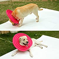 Pet Collier de protection restauration Collier Anti-morsure/Anti-licking Nylon résistant à l'eau Tissu creux EPE Cône en mousse pour chats et chiens