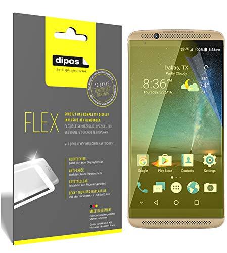 dipos I 3X Schutzfolie 100prozent passend für ZTE Axon 7 Mini Folie I 3D Full Cover Bildschirmschutzfolie