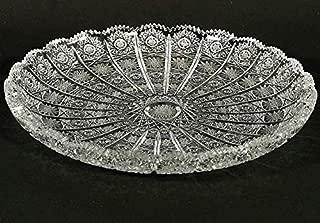 Czech Bohemian Crystal Glass Plate 11