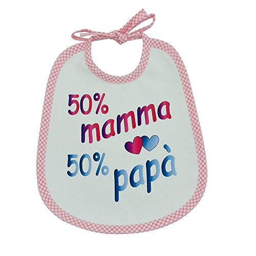 Lätzchen mit Druck Sätze verschiedene Spirituosen cm.20x 24mit Bändern–Baumwolle 100%–Made in Italy ROSA11