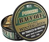 BaccOff, Classic Wintergreen Pouches, Premium Tobacco Free, Nicotine Free Snuff Alternative (5 Cans)