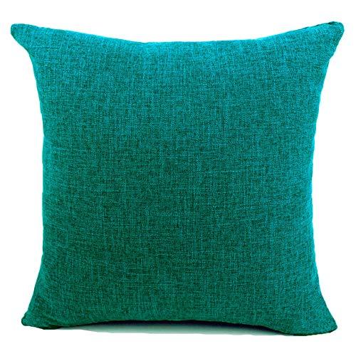 JT Federe per Cuscini Moda Vintage di Cotone Lino Divano Federa Cuscino Letto Geometria Rettangolari Cuscini e federe 50x50cm Blu