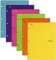 Five Star 4 Pocket Folders, 2 Pocket Folders plus 2 additional Pockets, Assorted Colors, 6 Pack (38056)