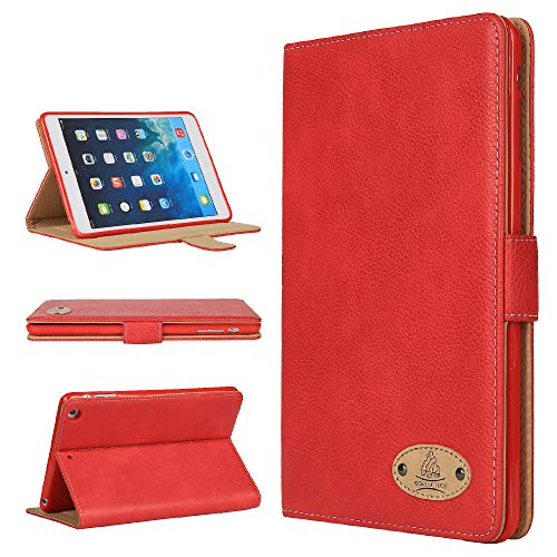 Gorilla Tech Apple iPad Air 3rd Generation Leather Case Smart Protective Cover with Stand for Air 3rd Gen 2019 Model A2152 A2123 A2153 A2154 Red Genuine Luxury Executive Leather in Retail Packing