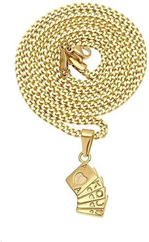 NC122 Colgante, Collar, Hip Hop, Naipes de Acero Inoxidable para Hombres y Mujeres, joyería, melocotón, corazón, rasante, Simple, Creativo