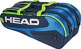 HEAD Unisex– Erwachsene Elite 9R Supercombi Tennistasche, Blue/Green