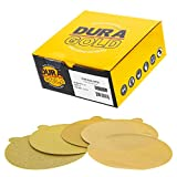 Dura-Gold – Premium – 80 Grit 6'Oro PSA Autoadhesivo Adhesivos Discos de Lija para DA Sanders – Caja de 50 Discos de Acabado de Papel de Lija para automoción y carpintería