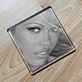 PAMELA ANDERSON - Original Art Coaster #js005