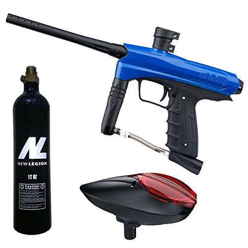 Kids Paintball Markierer cal.50 inkl. Loader und 12oz CO2 Tank - Blue Falcon