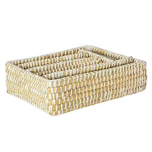 Argon Tableware Mer Herbe Unité tiroir de Rangement Organisateur - Tiroir à Couverts - 36cm - Blanc