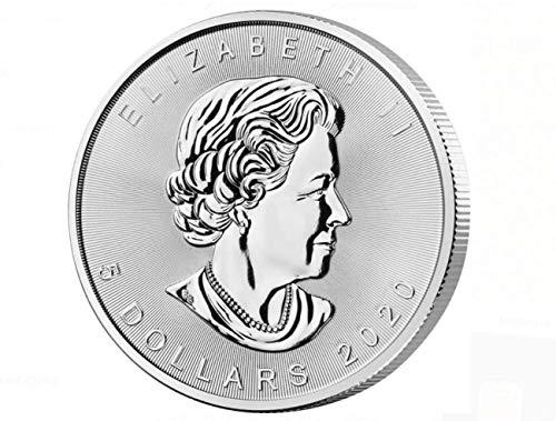 1 Oz 1 Unze Silber Maple Leaf 2020 / Silbermünze/Anlage