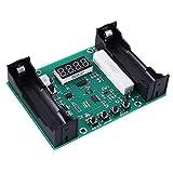 Probador de la capacidad de la batería, comprobador de la capacidad de la batería mAh mWh indicador de potencia de la batería para la batería 18650