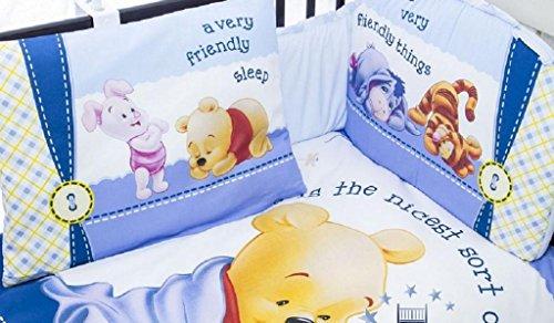 hogartrend Set Biancheria da Culla Disney 6Pezzi Cars, Minnie, Mickey, Winnie di Pooh, Kitty Winnie Pooh, Blu