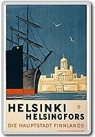 ヘルシンキHelsingforsフィンランド - ヴィンテージトラベル冷蔵庫用マグネット
