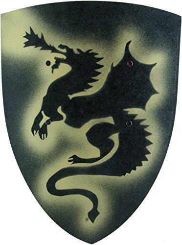 Knight Shield Dragon Large Black VAH 102 Dome