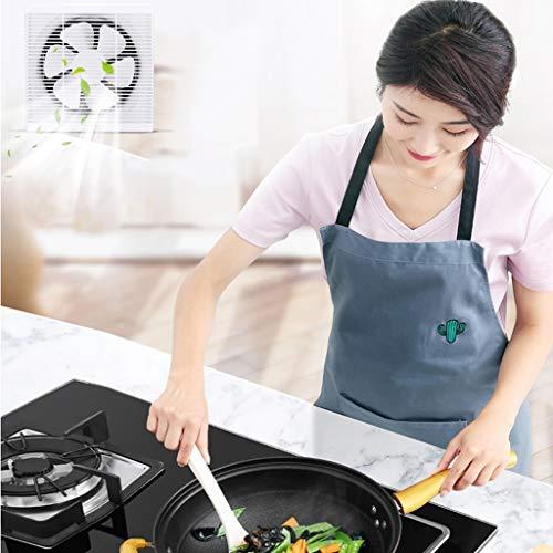 Ventilador de ventilación doméstico Ventilador De Ventilación 8 Pulgadas Cuadrado Mute Ahorro De Energía For Cocina/Baño/Oficina LITING