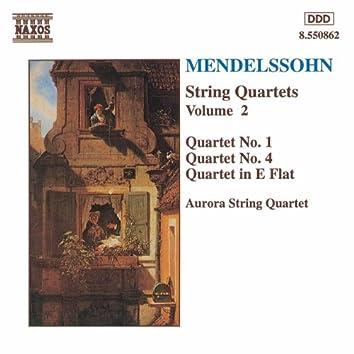 MENDELSSOHN: String Quartets Nos. 1 and 4 / Quartet in E Flat Major