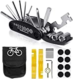 Kit de Herramientas para Bicicleta, 16 Set/Aleación Kit Pinchazos Bici, Herramienta de Reparación Multifunción para Bicicleta