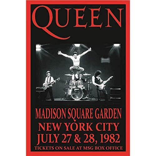 Queen Póster de Pared Metal Creativo Placa Decorativa Cartel de Chapa Placas Vintage Decoración Pared Arte Muestra para Bar Club Café