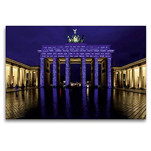 CALVENDO Premium Textil-Leinwand 120 x 80 cm Quer-Format Brandenburger Tor