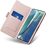 Aunote Hülle Samsung Galaxy Note 20, Handyhülle Samsung Note 20, Schutzhülle Samsung Note 20, Tasche Samsung Note 20, Klapphülle Samsung Note 20, Etui Flip Cover Hülle, Hülle Note 20 4G/5G. Rosegold