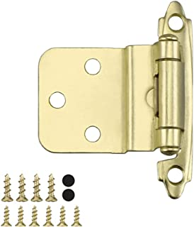 "Homdiy 3/8"" Kitchen Cabinet Hinges Cabinet Door Hinges - Self Closing Door Hinges Brushed Brass Inset Hinges Cabinet Hinge..."