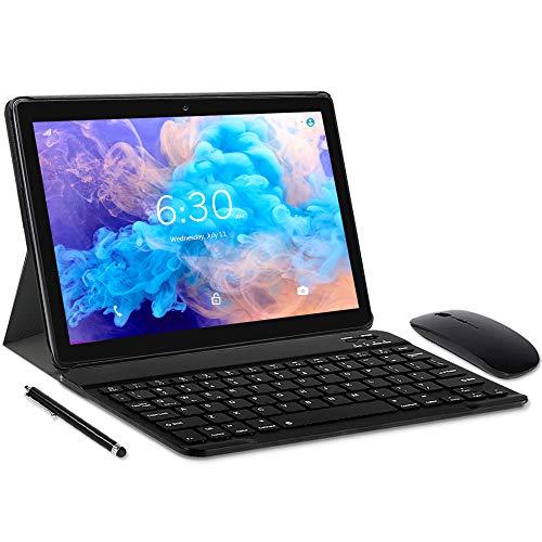 """LNMBBS N10 Tablet con 10.1"""" FHD, Octa-Core, 4G LTE + WIFI Tablet Android 10.0, 4GB RAM + 64GB ROM, 128GB Espandibili, Dual SIM, GPS (Grigio)"""