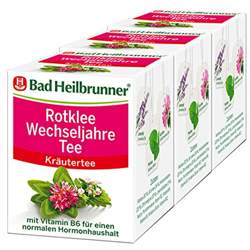 Bad Heilbrunner® Rotklee Wechseljahre Tee, 3er Pack