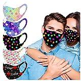 マスク 洗える【MASZONE】大人用 布マスク 5枚入り バレンタインデー 超快適マスク 涼しめ マスク 息苦しくない 繰り返し使用可 防塵マスク スポーツ マスク 通気性 マスク 仮面舞踏会 新年会 男女兼用 通勤 お出かけ安心