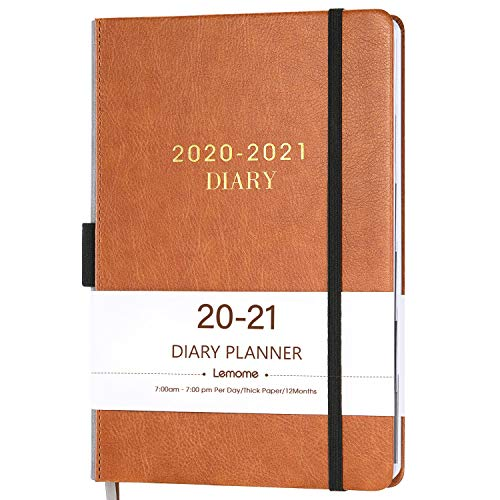 """2020-2021 Diary Planner/Appointment Book 2020-2021 - Diary 5-3/4"""" x 8-1/2"""", July 2020 - June 2021, Daily Planner with Monthly Tabs, Gift Box/Inner Pocket/Pen Loop/Banded/Bookmarks"""