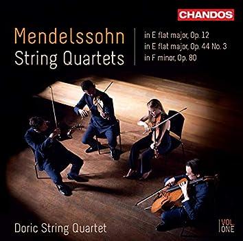 Mendelssohn: String Quartets, Vol. 1