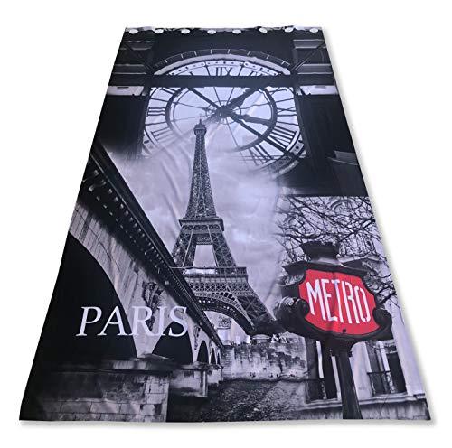 Tex Family PARGMTR Rideau motif Paris 140 x 280 cm prêt à l'emploi