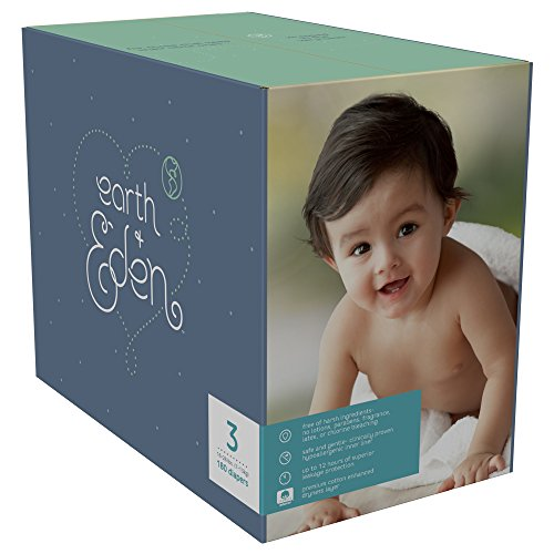 Earth + Eden Baby Diapers, Size 3, 180 Count