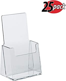 Azar 252012 Clear Acrylic Trifold Literature Brochure Holder For Counter | Perfect For Pamphlets | Brochures | Menus | Promotions | Literature | Made In USA |