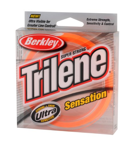 Berkley Snfsn12-80 Trilene Sensation Fishing Bait, Blaze Orange, 330 yd