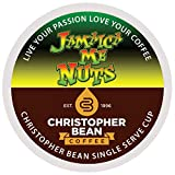 Jamaica Me Nuts Decaf Single Cup Christopher Bean Coffee Pods Capsules (18 Count) Compatible with Keurig 2.0 K-Cup Brewers