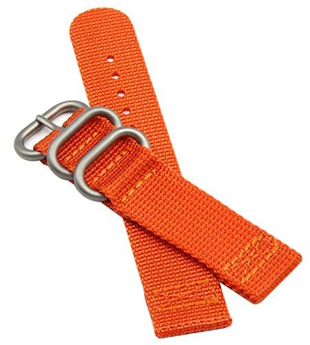 NATO Correas de Reloj de perlón de Nylon de 22 mm de Estilo de Color Naranja Hombres exquisitos Correas de reemplazo