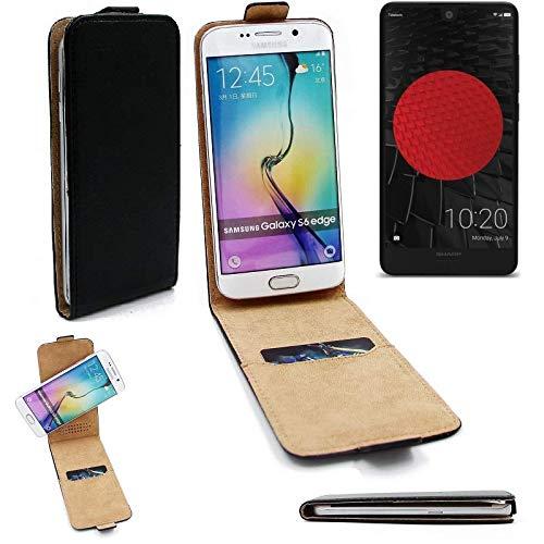 K-S-Trade Für Sharp Aquos C10 Flipstyle Schutz Hülle 360° Smartphone Tasche, Schwarz, Hülle Flip Cover Für Sharp Aquos C10