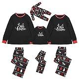 Alueeu Pijamas de Navidad Familia Conjunto El nuevo Set Ropa de Dormir Chándal Homewear Pijamas Navidenos Pareja riou