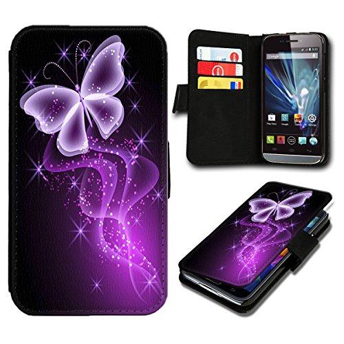 sw-mobile-shop Book Style Wiko Sunset 2 Premium PU-Leder Tasche Flip Brieftasche Handy Hülle mit Kartenfächer für Wiko Sunset 2 - Design Flip SB296