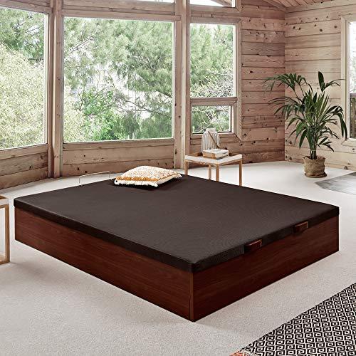 Komfortland Canapé abatible Wood de Home Medida 135x190 cm Color Wengué