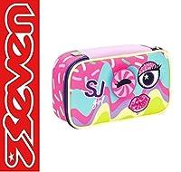 Federmäppchen für die Schule Seven Quick Case SJ Girl oval komplett mit Reißverschluss. ✔️Die original Seven Quick Case Federmäppchen sind das Maximum! Sie sehen modisch aus und sind super cool. Der Inhalt ist von höchster Qualität wie der radierbare...