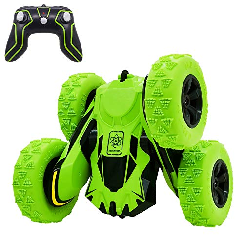 Threeking Rc Cars Stunt Car Toys for Kids Boys & Girls Ages 6+ Remote Control Car 1/28 4WD 2.4Ghz Double Sided 360° Flips Rotating Rechargeable Outdoor Indoor Toys