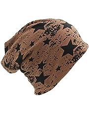 GQQ Sombreros de Invierno, Beanie Hat Casual Star Hombres Mujeres Knit Beanie de Otoño Hip Hop Fashion Warm Hat Gorras Sombreros de Niña,Marrón