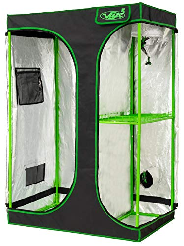 VITA5 Growbox 2-in-1 | Growzelt Zuchtschrank für Pflanzenzucht zuhause | Lichtdicht Reißfestes Tuch | wasserdichte Grow Box (90x60x135)