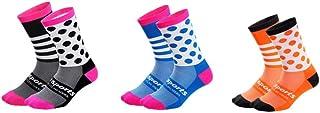 WOSAWE, Calcetines Deportivos de Ciclismo, Hombre Mujer Transpirable Compresión Largo Calcetines de Ejercicios