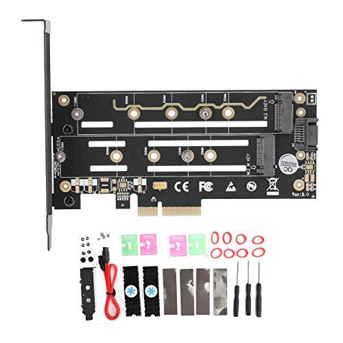 Adaptador SSD, Tarjeta convertidora, disipación de Calor 5.7In / 2.3In Buen Rendimiento Estable para computadora de Escritorio