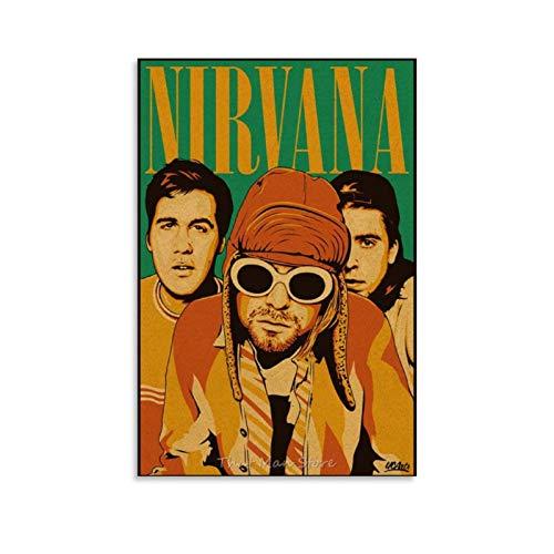 16 Kurt Cobain Poster Leinwand Kunst Bild Home Decor Poster für Wohnzimmer Wanddekoration 30 x 45 cm